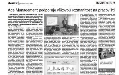 Přečtěte si o age managementu v Jihomoravském kraji